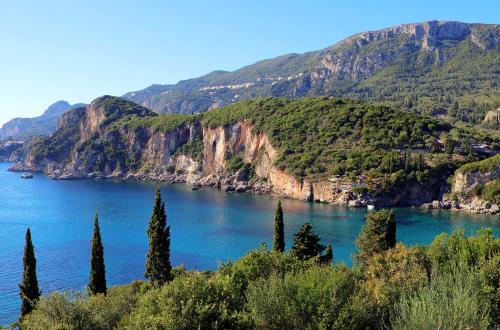breathtaking glimpse of mountains in corfu