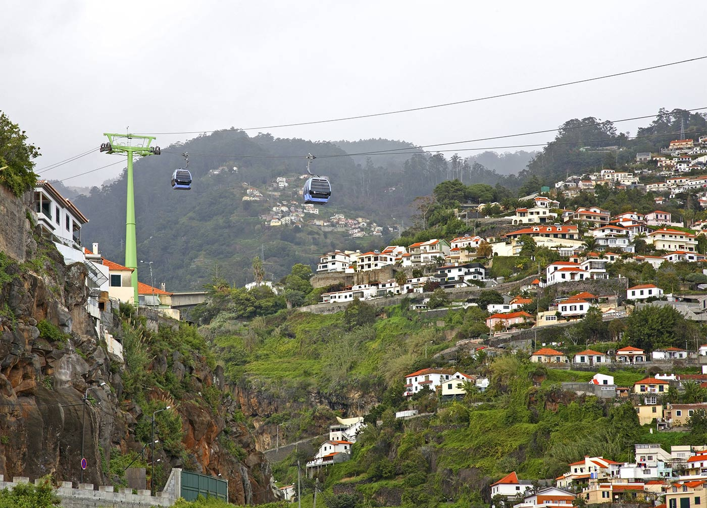 cable car through funchal portugal