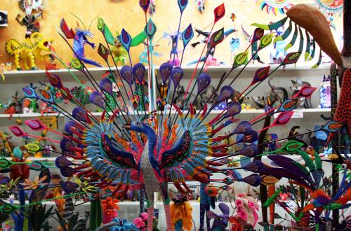colorful souvenir item in huatulco