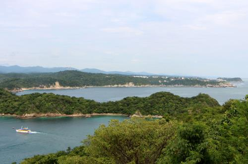 panoramic view of huatulco mexico