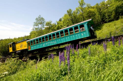 Mount Washington and the Cog Railway in Portland, Maine