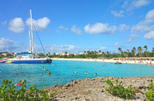 Golden Eagle Catamaran Sail & Snorkel in St. Maarten, NA