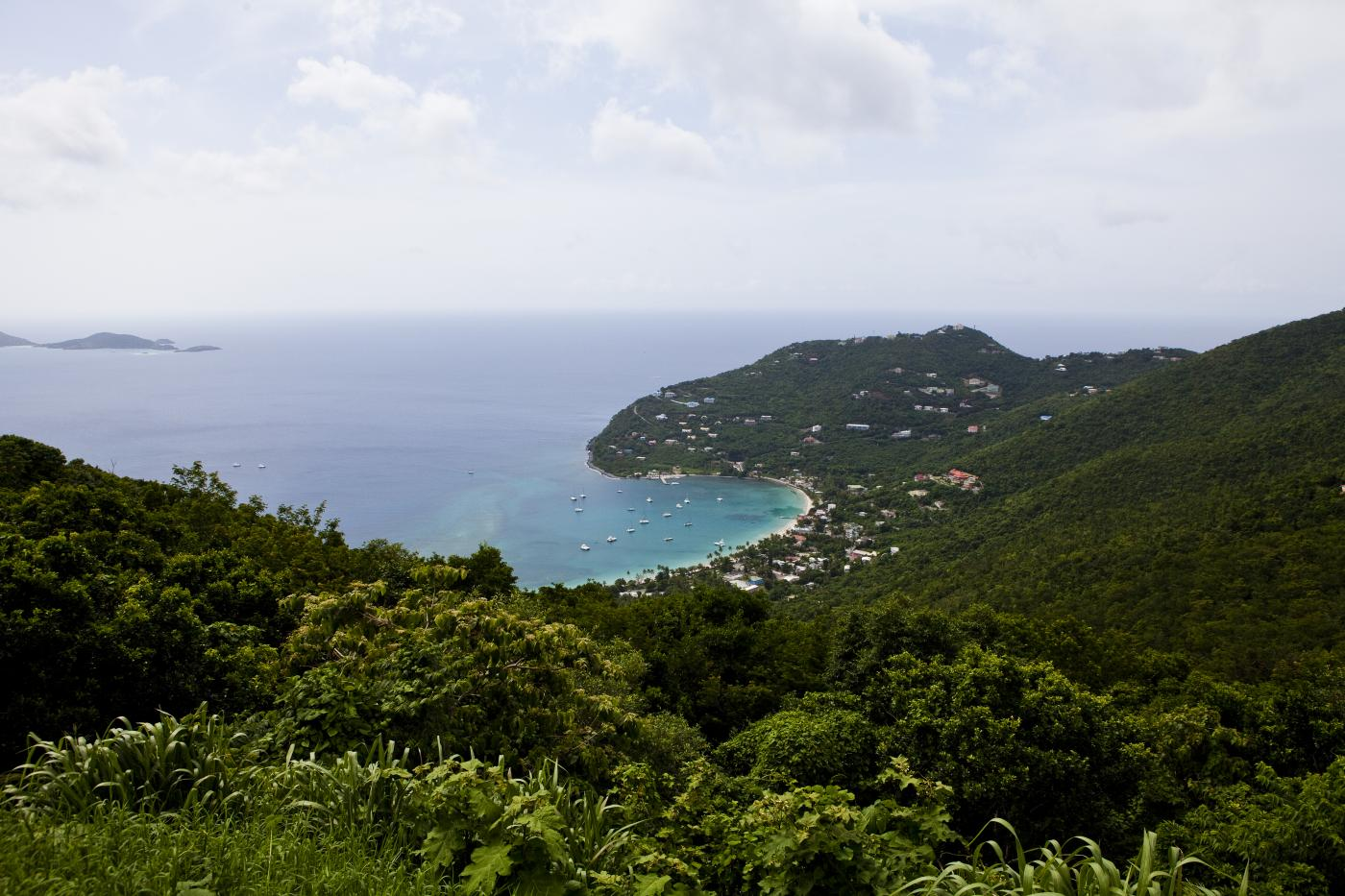 Coast To Coast Scenic Drive in Tortola,British Virgin Islands