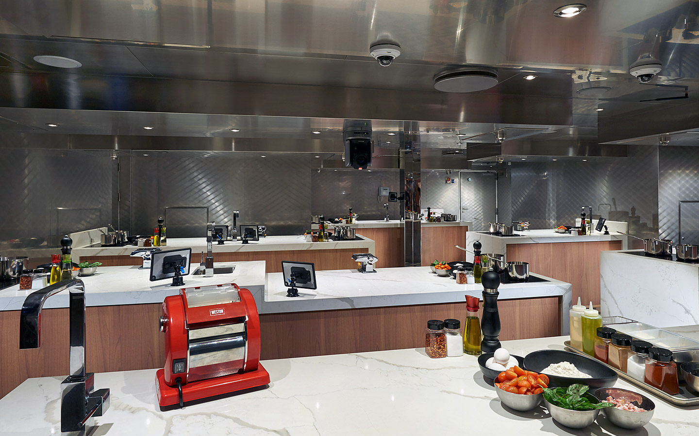overview of carnival kitchen onboard carnival panorama