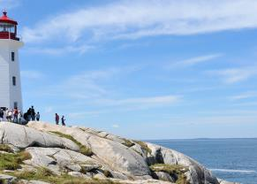 see the famous lighthouse at peggy's cove