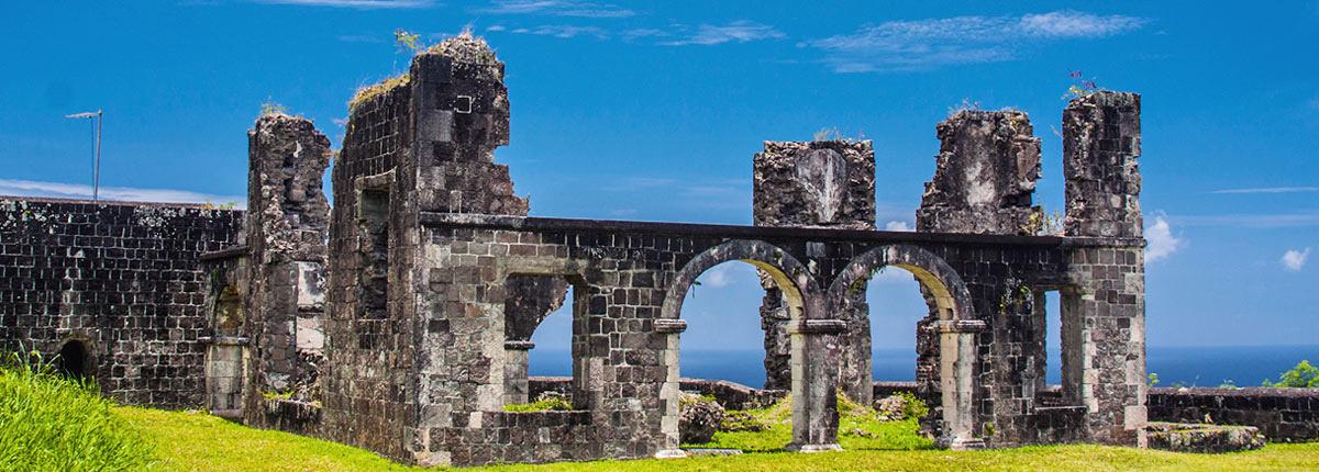 historic architecture ruins in st kitts