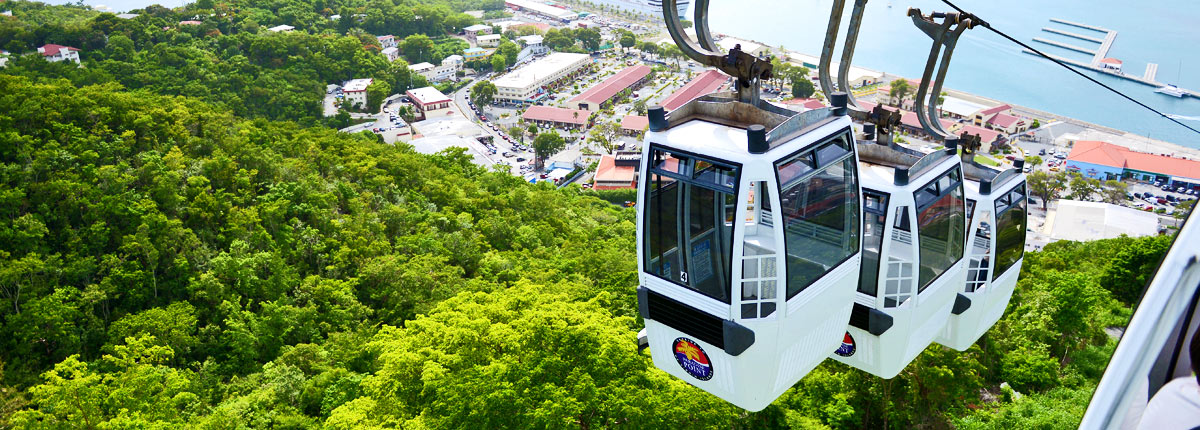 skyride to paradise point in st thomas