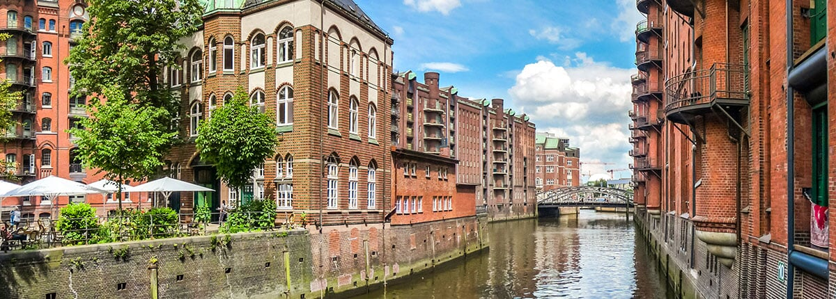 speicherstadt warehouse district in hamburg, germany