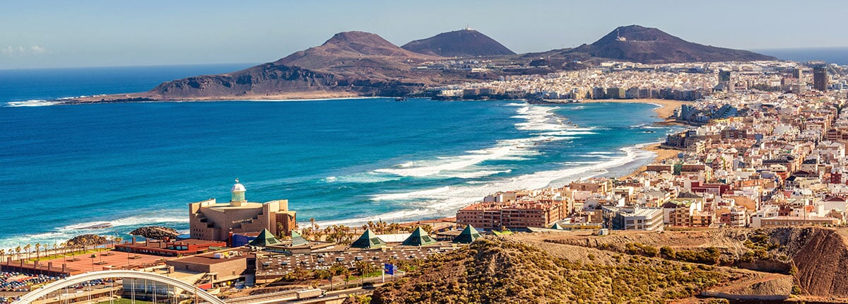 view of the coast of las palmas in the canary islands