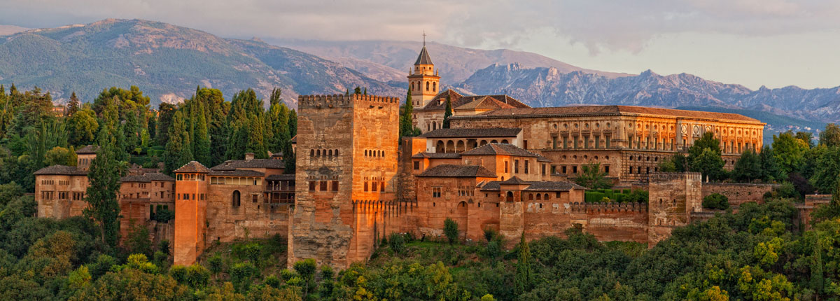 Exterior view of the Alhambra in Granada.