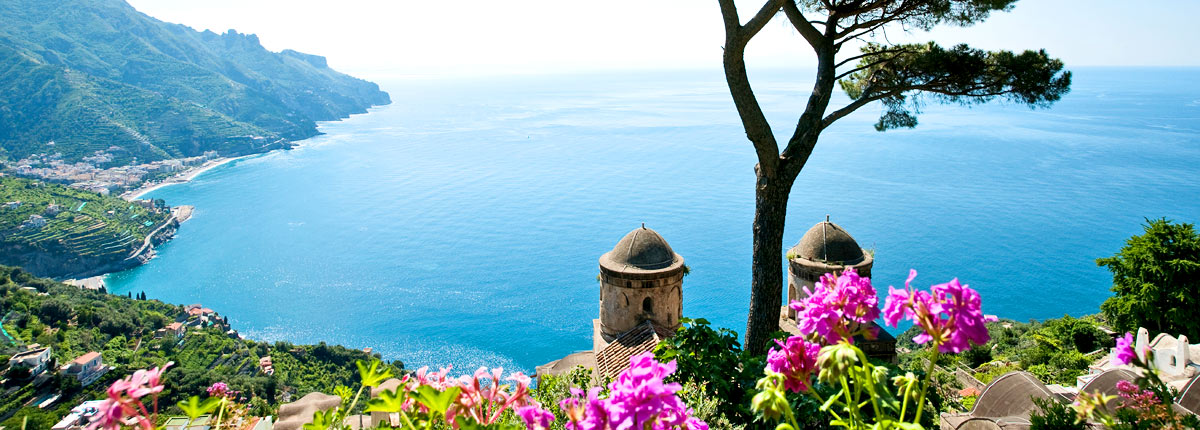stunning hilltop view of the amalfi coast