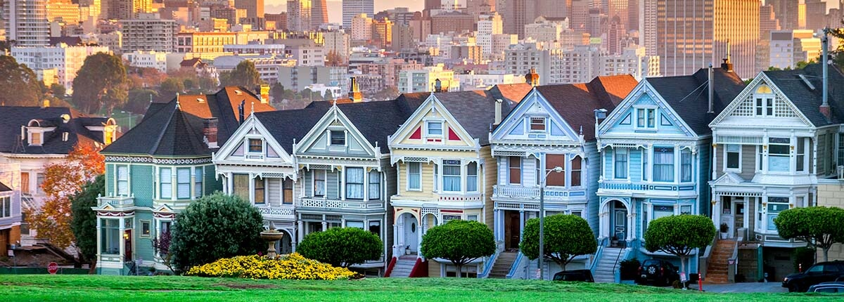 the painted ladies houses in san francisco, california
