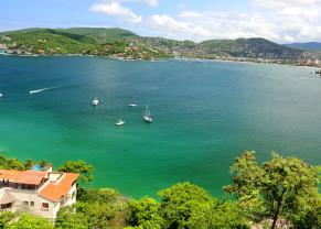 picturesque view of the bay in zihuatanejo